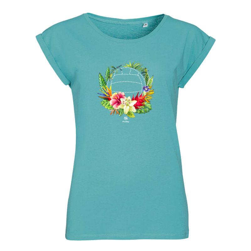 T-shirt Femme TURQUOISE Orchidee