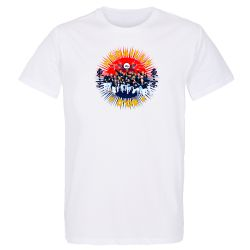 Lot de 10 T-shirts Homme BLANC Medaille d'Or 2021 Taille S